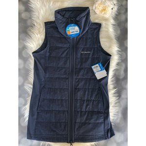 Columbia Vest Womens Medium Navy Place to Place